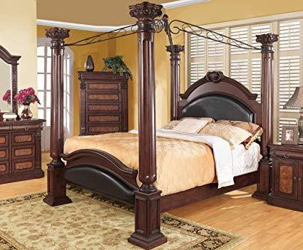 Amazon.com: Coaster Grand Prado 4 Piece California King Canopy
