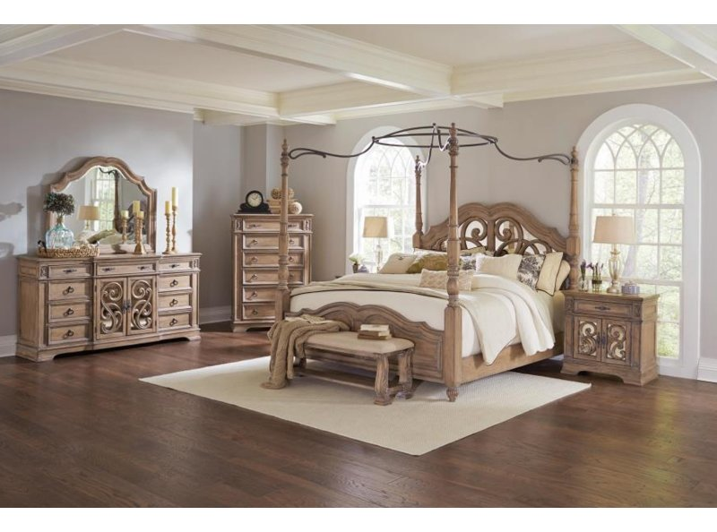 August Grove Antonie Canopy Configurable Bedroom Set | Wayfair