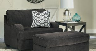 Charenton Charcoal Chair and a Half with Ottoman - Furniture Direct Now