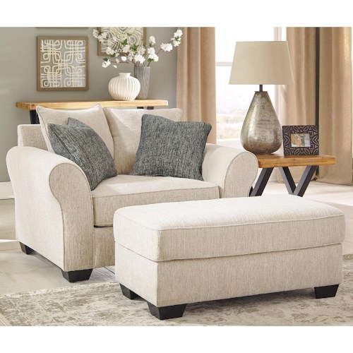 AshleyBenchcraft Silsbee Chair And A Half Ottoman