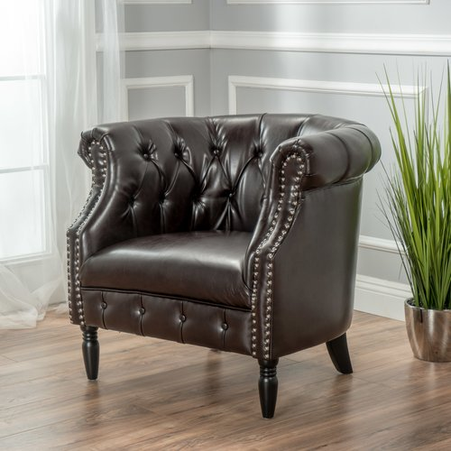 Willa Arlo Interiors Bourbeau Chesterfield Chair - Walmart.com