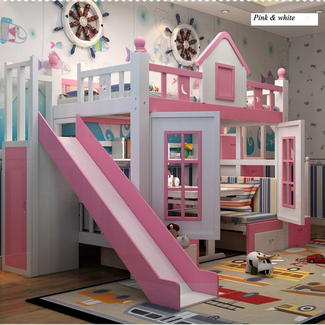 0128TB006 Modern children bedroom furniture princess castle with