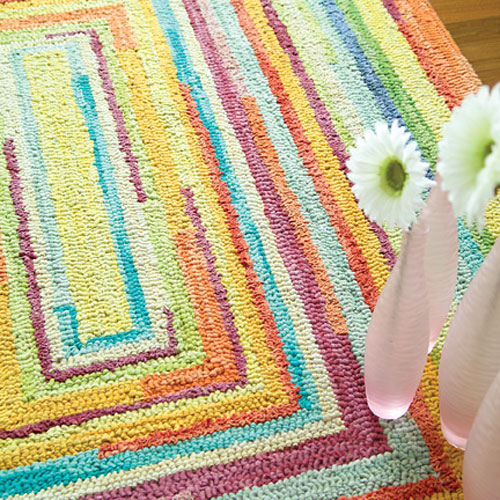 Concentric Squares Rug and Nursery Necessities in Interior Design