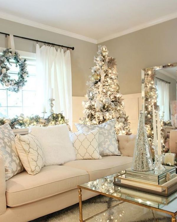 7 White Christmas home decorations---maybe someday I'll be able to