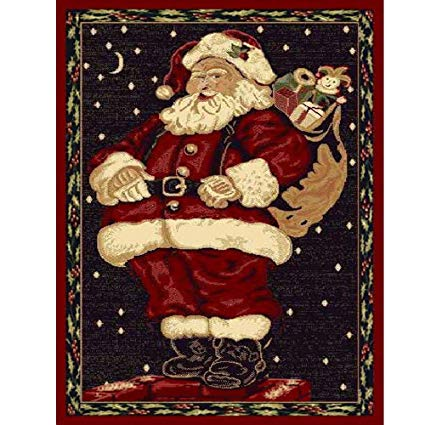 Amazon.com: Christmas Rug Holiday Décor Santa Claus Area Rug 3ft4in