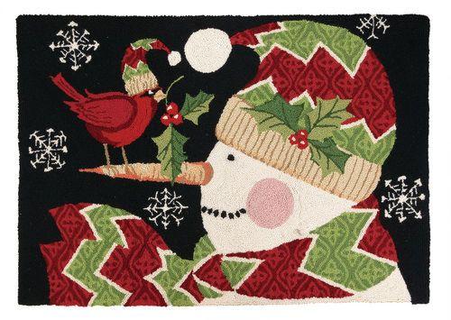 Christmas Rugs - Snowman & Cardinal Susan Winget 31SW110C40
