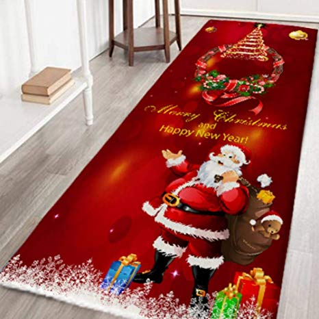 Amazon.com: zhangwei Christmas Rugs, Non Slip Carpet Door Mat