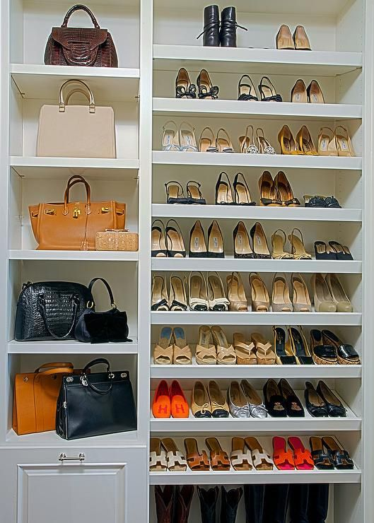 Built in shoe shelves | Closets | Pinterest | Closet designs, Master