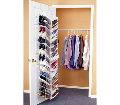 Shoes Away Over the Door Organizer - Dorm closet shoe organizer
