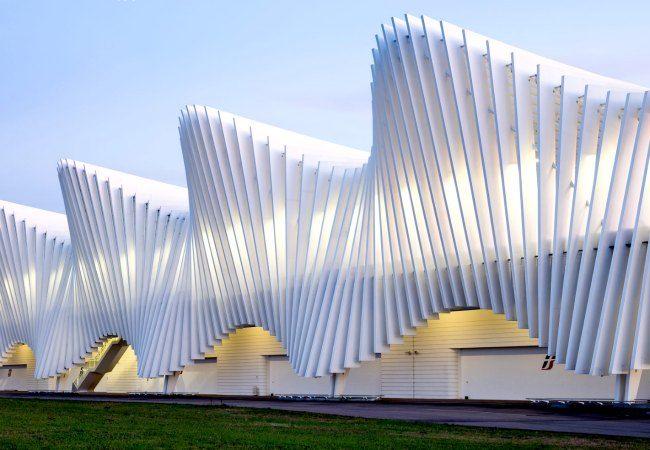 Beautiful contemporary architecture of the Reggio Emilia Train