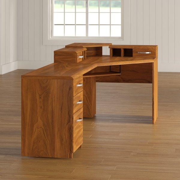 Red Barrel Studio Lewisville Corner Computer Desk & Reviews | Wayfair