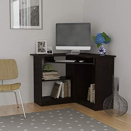Amazon.com: Essential Home Corner Computer Desk, Espresso: Office