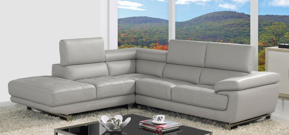 Impressive Best Corner Leather Sofa Leather Corner Sofa Grey Most