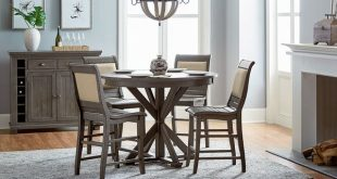 Lark Manor Epine Round Counter Height Dining Table & Reviews | Wayfair