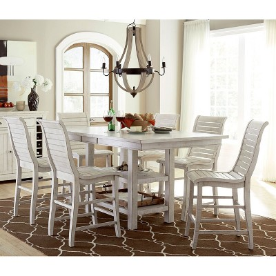 Willow Rectangular Counter Height Dining Table - Distressed White