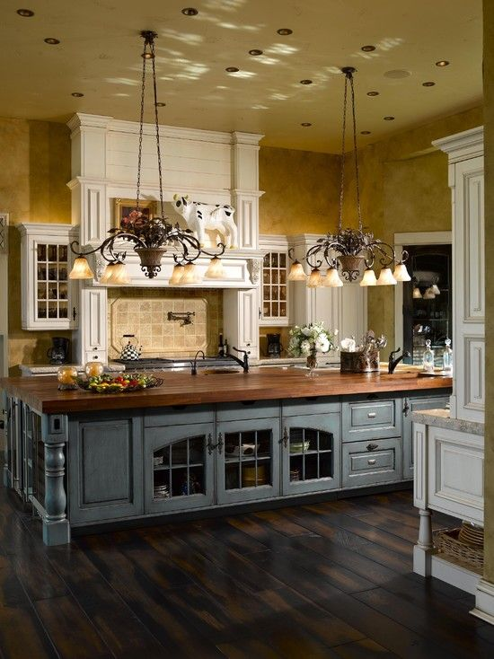 Country Kitchen Designs Made Easy with   natural Wood