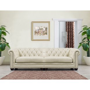 Cream Leather Sofa | Wayfair