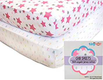 Amazon.com : Best Organic Crib Sheets for Baby Girls, 2 Adorable