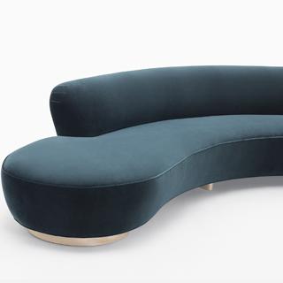 Vladimir Kagan, Seating, Free Form Curved Sofa with Arm