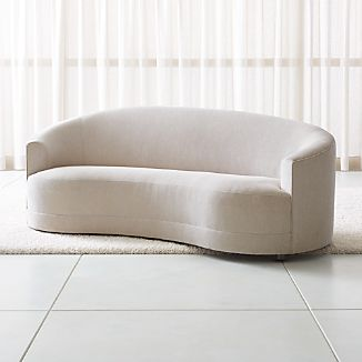 Curved Sofas | Crate and Barrel