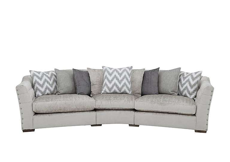 Devine Pillow Back Fabric Curved Sofa Furniture Village - Codemagento