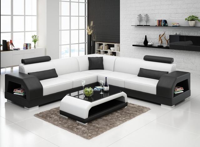 popular modern furniture sofa leather custom sofa set design G8001B