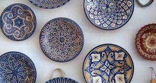 The beautiful blues of Moroccan pottery, via Kim Piotrowski | Resort