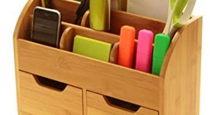 Desk Stationery Organiser Box (or Wall Mounted) Desk Tidy Made of