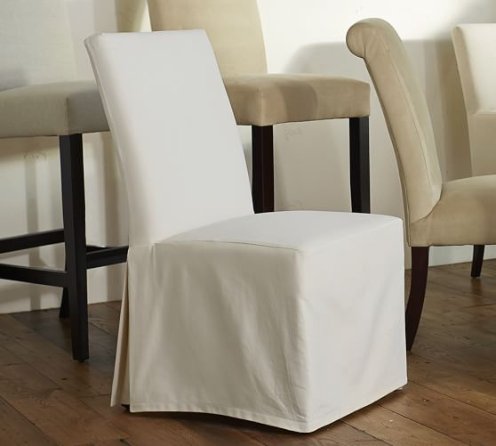 PB Comfort Square Slipcovered Dining Chairs | Pottery Barn