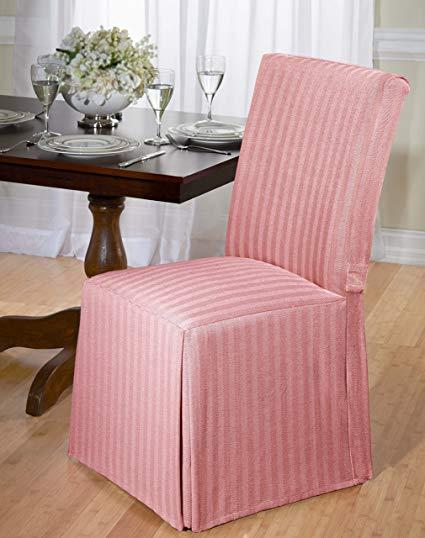 Amazon.com: Luxurious Dining Chair Slipcover, Herringbone, Beige