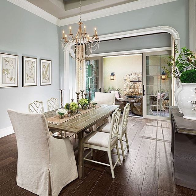 dining room paint color Silver Strand by Sherwin Williams. Silvery