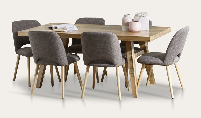 Alice 11 Piece Dining Table and Chairs (2400mm) | Focus On Furniture