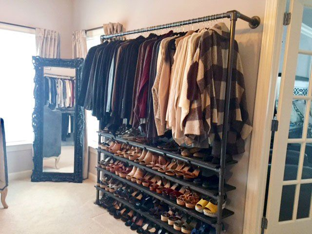 DIY Closet System Built with Pipe & Fittings (Plans Included