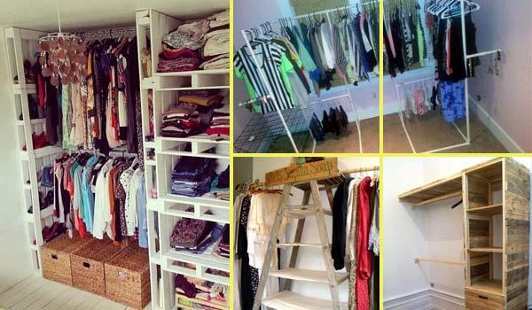 Low-Cost DIY Closet for The Clothes Storage - Amazing DIY, Interior