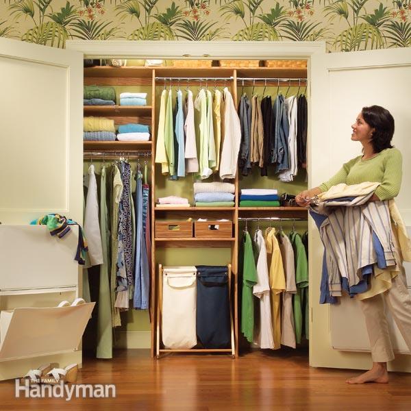 Closet Organizing: A Simple Closet Rod and Shelf System | The Family