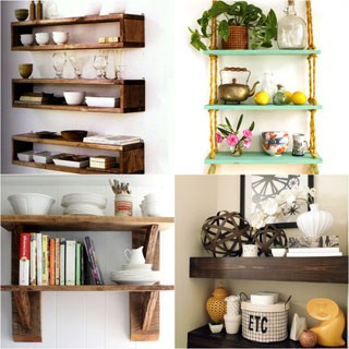 16 Easy and Stylish DIY Floating Shelves & Wall Shelves - A Piece Of