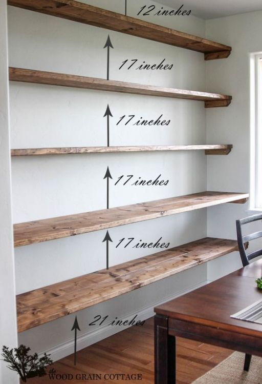 44 Impressive DIY Shelves For Storage & Style | home | Pinterest