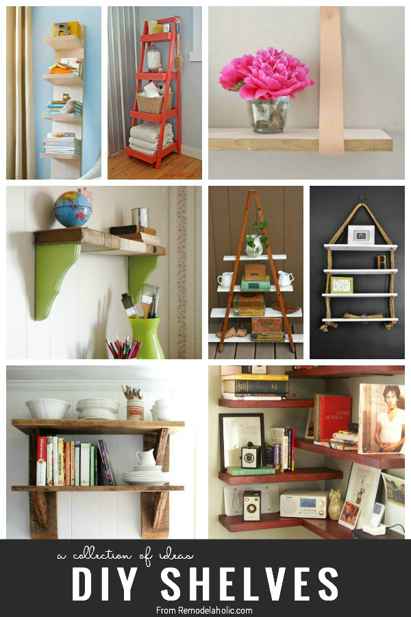 25 Great DIY Shelving Ideas | Remodelaholic