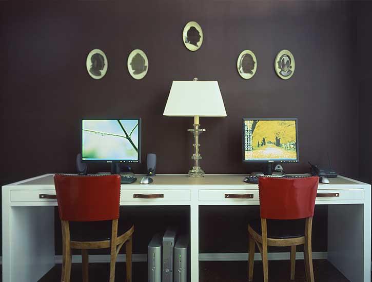 Double Desk Ideas - Contemporary - den/library/office - M. Design