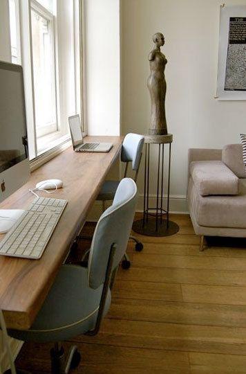 Small Space Solution: Double Desks | Decorables | Pinterest | Home