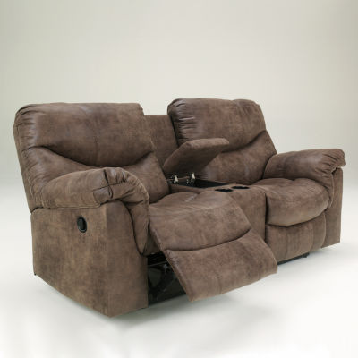 Signature Design by Ashley Holton Double Reclining Loveseat with