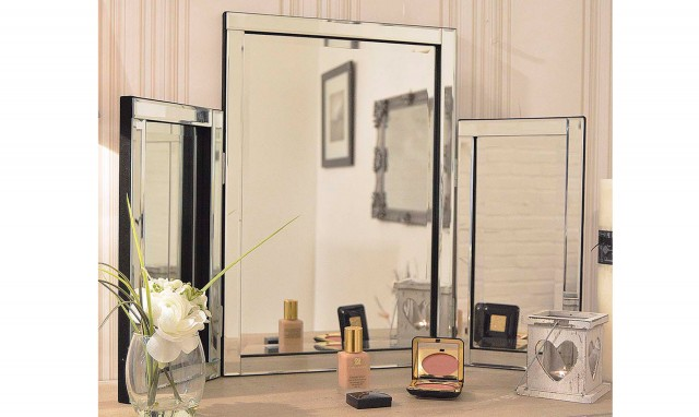 Bolzano Dressing Table Mirror Silver 77 x 54cm - Dressing Table