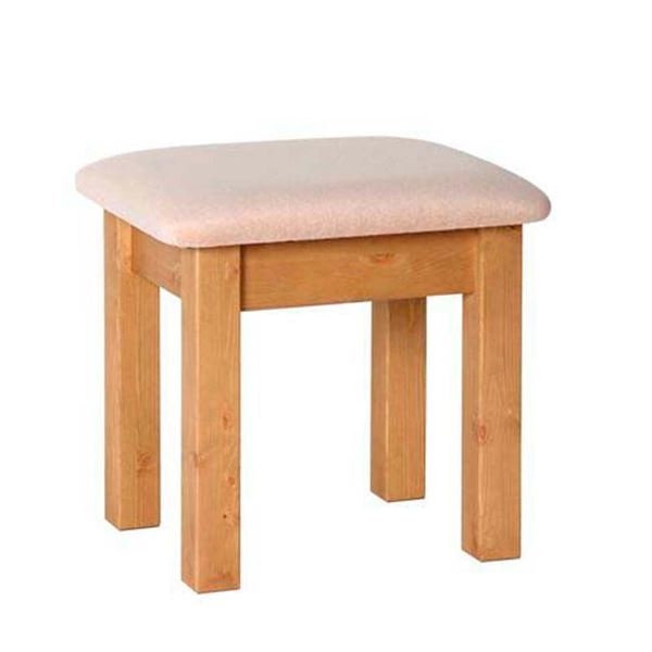Country Pine Dressing Table Stool. Quality Oak furniture from The
