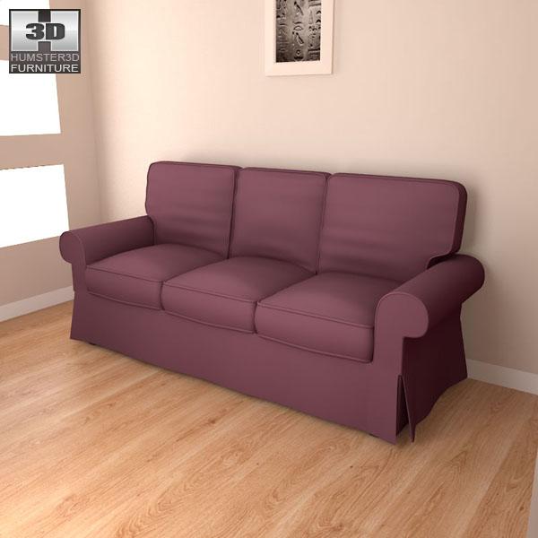 IKEA EKTORP Sofa 3D model - Furniture on Hum3D