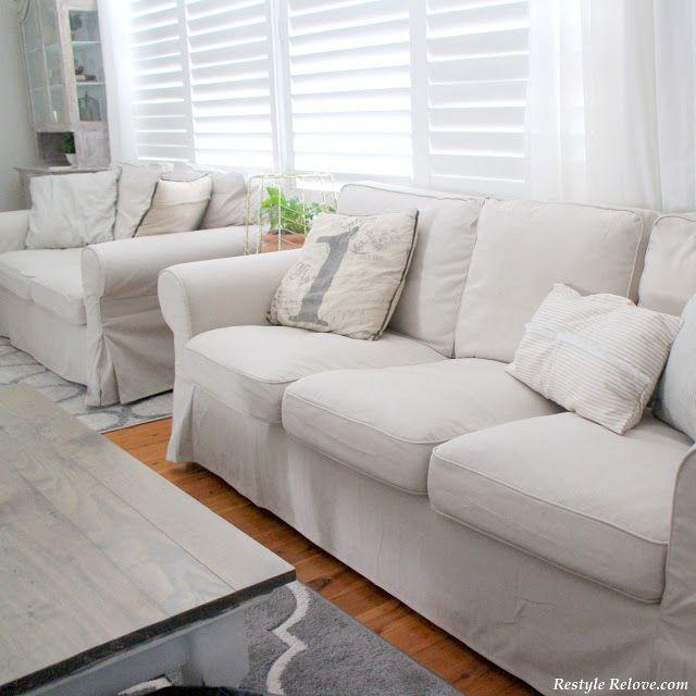 My New IKEA Ektorp Sofa Covers in Lofallet Beige | decor | Pinterest