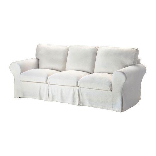 Buy IKEA EKTORP Stenasa 3-seat Sofa Slipcover White Washable Linen