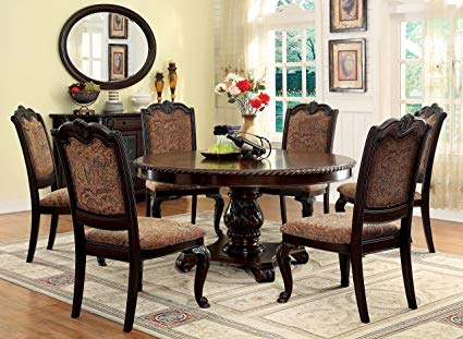 Amazon.com: Furniture of America Ferrara 7-Piece Elegant Round