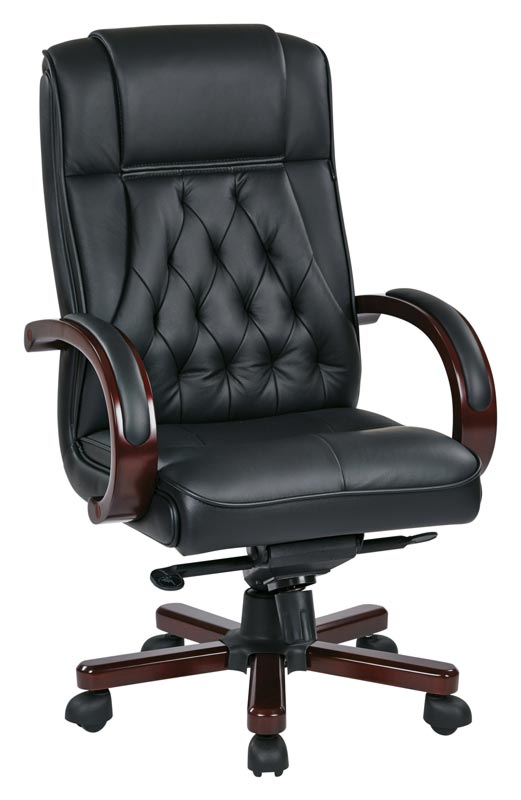 Office Star Leather Executive Chair - Twn300l-3 | Executive Office
