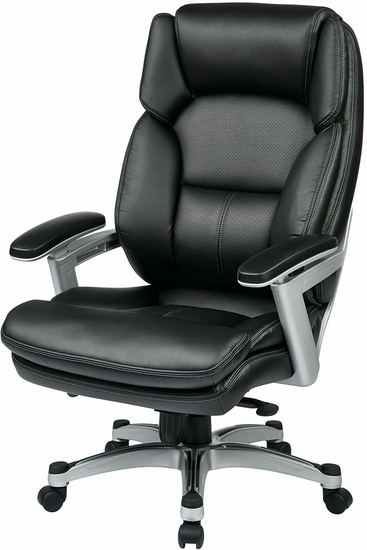 Office Star Eco-Leather Executive Chair - Leather Executive Chairs