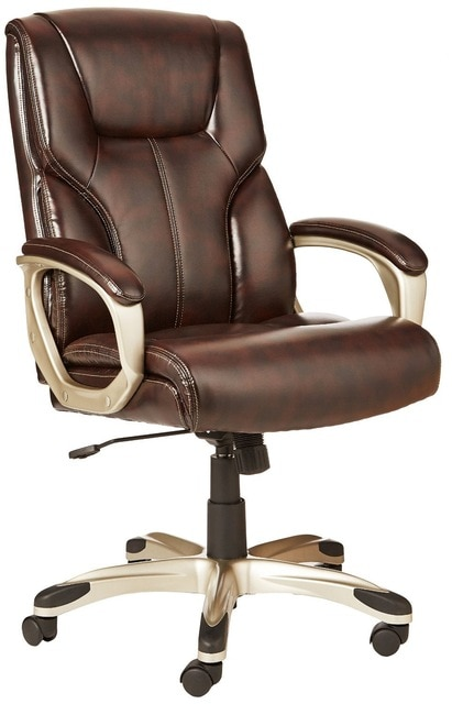AmazonBasics High Back Executive Chair Brown-in Conference Chairs